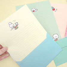 1set Daily Kitty Letter Set - 4sheets Writing Stationery Paper 2sh Envelope