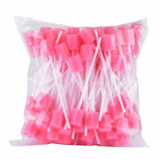 50PCS Dental Pink Disposable Sponge Swab for Oral Clinic Cleaning Use UK STOCK