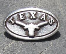 Lot of 10 Texas Longhorn conchos.  Dipped in silver, free shipping