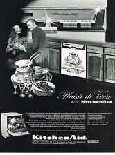 PUBLICITE ADVERTISING  1972   KITCHEN AID   lave vaisselle cuisine équipée