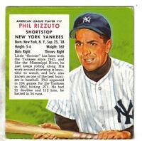1954 Red Man Baseball Card AL #17 Phil Rizzuto New York Yankees VG/EX w/o Tab