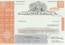 """ASSO. COCA-COLA BOTTLING CO. INC."" COMMON STOCK SPECIMEN RARE ARCHIVE BN7078"