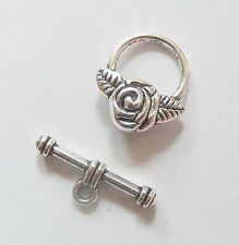5 Sets Metal Toggle Clasps- Antique Silver Colour - 19mm
