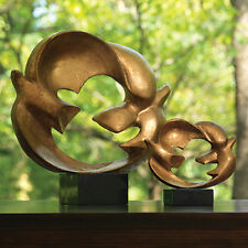 "Global Views #8.81580 ""Dove of Peace"" Large Gold Sculpture -16""L x 14""H x 4.25W"