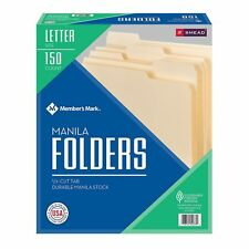 SMEAD 150 Manila FILE FOLDERS 1/3 Cut Top Tab Letter size office organize filing
