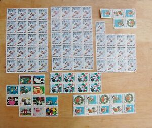 Christmas Seals American Lung Association Stamps 1979 1989 1986 1985 Lot 89 Vtg