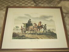 VINTAGE FRAMED MARTINET/DUGOURC HORSE PRINT -- HISTORIE DU CHEVAL 1800-1899