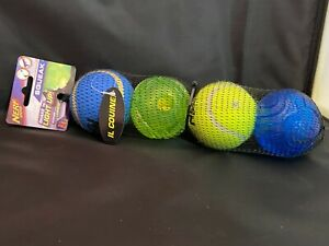 NERF Dog Light up balls Package of 4