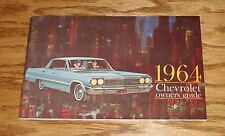 1964 Chevrolet Passenger Car Owners Operators Manual 64 Chevy