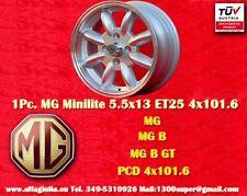 1 Cerchio MG B Series Minilite 5.5x13 PCD 4x101 Wheel Felge Llanta Jante TUV