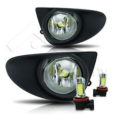 12-14 Yaris 2/4Dr Fog Lights w/Wiring Kit & COB LED Bulbs - Clear
