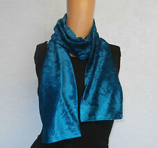 Ladies / Womens Gorgeous Slim Crushed Velvet Scarf Many Colours Winter Accessory
