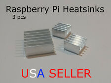 [3pcs] Aluminum Raspberry Pi Heatsink set (Pi 1, 2, 3, Zero)