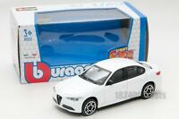 Alfa Romeo Giulia 2016 in white, Bburago 18-30329, scale 1:43, toy gift model