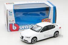 Alfa Romeo Giulia 2016 in white, Bburago 18-30329, scale 1:43, toy gift model