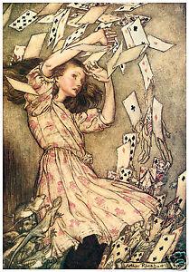 Alice in wonderland illustration Art Print 10 x 8 Arthur Rackham