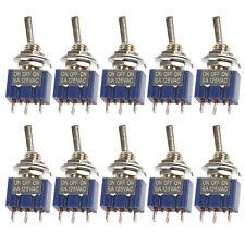 10pcs Mini Toggle Switch SPDT ON-OFF-ON 3 Position 6mm 12V 110V 220V MTS-103