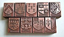 """OLD ENGLISH COUNTY CRESTS"" Print Blocks. (Multiple Item Listing)"