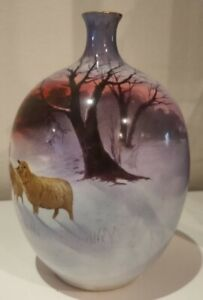 Royal Doulton Snow Scene vase