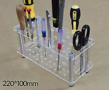 Multi-Function Transparent Tools Shelves Screw Drivers Scissor Tamiya Model