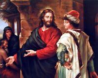 Jesus Christ and Rich Ruler Spiritual Wall Decor Art Print Poster (16x20)