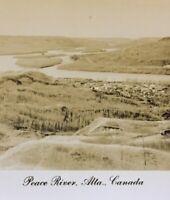 Postcard Peace River  Alberta Canada RPPC Vintage Postcard P45
