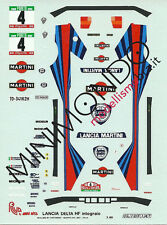 DECALS LANCIA DELTA MARTINI HF INTEGRALE RALLY PORTOGALLO 1988 1/43 MERI KITS