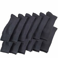 12 Pairs Of excell Mens Black Dress Diabetic Socks, Cotton Blend,Sock Size 10-13
