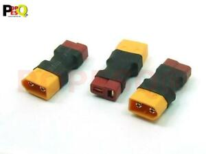 3 Stk. x Adaptor XT60 - T Plug Deans XT60 Stecker - T Plug Deans Buchse #A3705