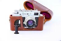 RARE 1962 Zorki-4 Soviet Rangefinder Film Camera copy Leica w/s lens Jupiter-8