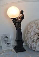Lampe Im Art Deco Stil nackte Dame Tischleuchte Bauhaus 20er Figurenlampe