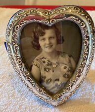 "New listing Vintage Sterling Silver Signed 925 Jr Heart Shaped Frame 4"" by 3 1/3"""