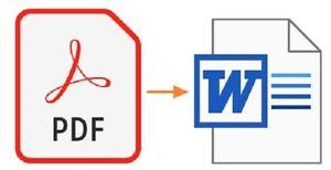 PDF converter to word.