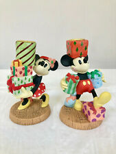 Highly Collectible Disney Mickey'S Season Of Song Candle Holders Set Of Two (2)
