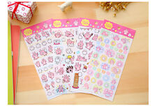 Japan Kanahei Kitty Bunny Chicken Stickers Cute Pink Serious