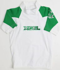 Xcel Kids Boys UPF50+ Rashgaurd Rashguards White Green 6 New