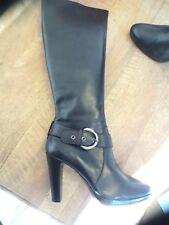 Bottes cuir noir NEUVE Valeur 179E tige 39cm tour mollet 38cm pointure40