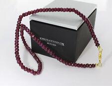 Collar de Rubíes tallado en facetas Rubíes 110 carat ! Plata 925 (2994)