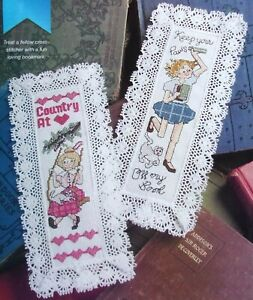 Country Girls, CROSS STITCH PATTERN, 2 Designs for Stitch-N-Mark Bookmarks