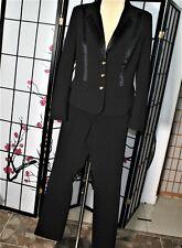 CAREER /COCKTAIL  PANTS SUIT  BLACK  CACH'E 12