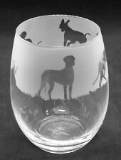 More details for great dane frieze boxed 36cl crystal stemless wine / water glass