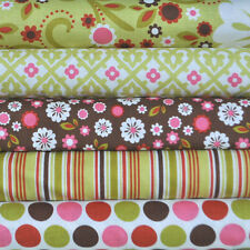 Indian Summer Green 5 Fabric Fat Quarters by Zoe Pearn for Riley Blake, 1.25 yd