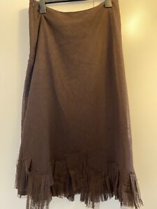 Lilith Womens Brown A-Line Skirt Size L