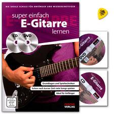 Super einfach E-Gitarre lernen - Gitarrenschule mit CD, DVD und Dunlop Plek