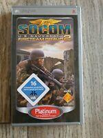 PSP SOCOM U.S. Navy Seals Fireteam Bravo 2 UMD Pal Reg2 OVP & Anleitung Top
