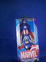 """Marvel Captain America 6"""" Action Figure Includes Shield Ages 4 & Up Hasbro"""