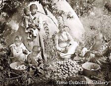 Yokut Women & Children, Tule River Reservation, CA -c.1900- Historic Photo Print
