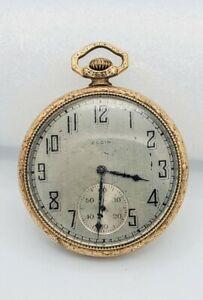 1924 Elgin National Watch Co. 7 Jewel Engraved Women's Pocket Watch WORKS