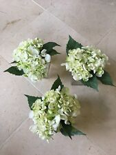 NDI Floral Petite Set of Three White Hydrangeas Arrangement in Acrylic Water