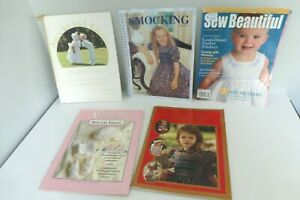 Lot Of 5 Smocking And Embroidery Magazines Uncut Patterns, Special Gifts